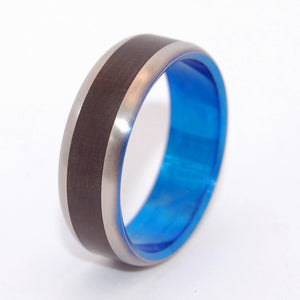 BLUE BUFFALO | Water Buffalo Horn - Titanium Wedding Rings - Minter and Richter Designs