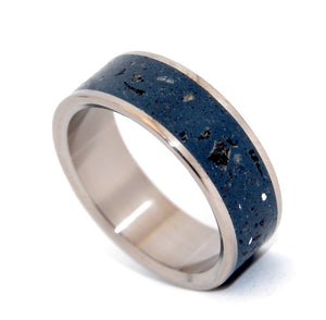 Blue Obsidian | Concrete and Titanium Wedding Band - Minter and Richter Designs