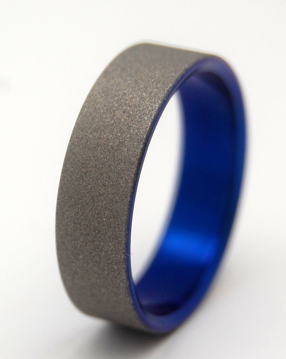 OFF WORLD | Anodized Titanium - Unique Wedding Rings - Minter and Richter Designs