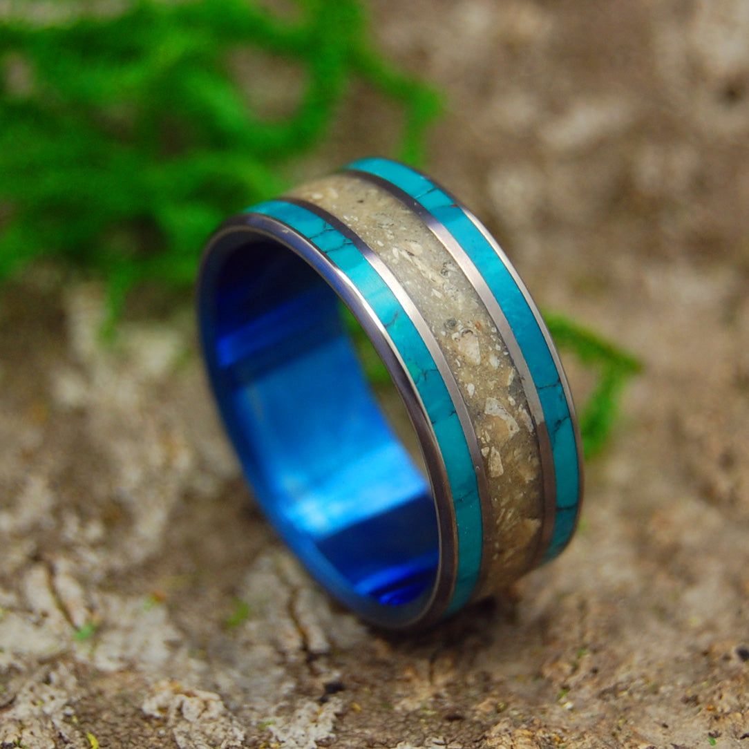 Titanium Men's Wedding Ring | BLUE SEA OF GALILEE