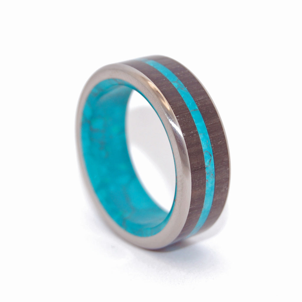 Bog King | Titanium Mens Ring - Unique Wedding Ring