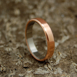 BOSTON COPPER | Handcrafted Women's Titanium & Copper Wedding Rings - Minter and Richter Designs