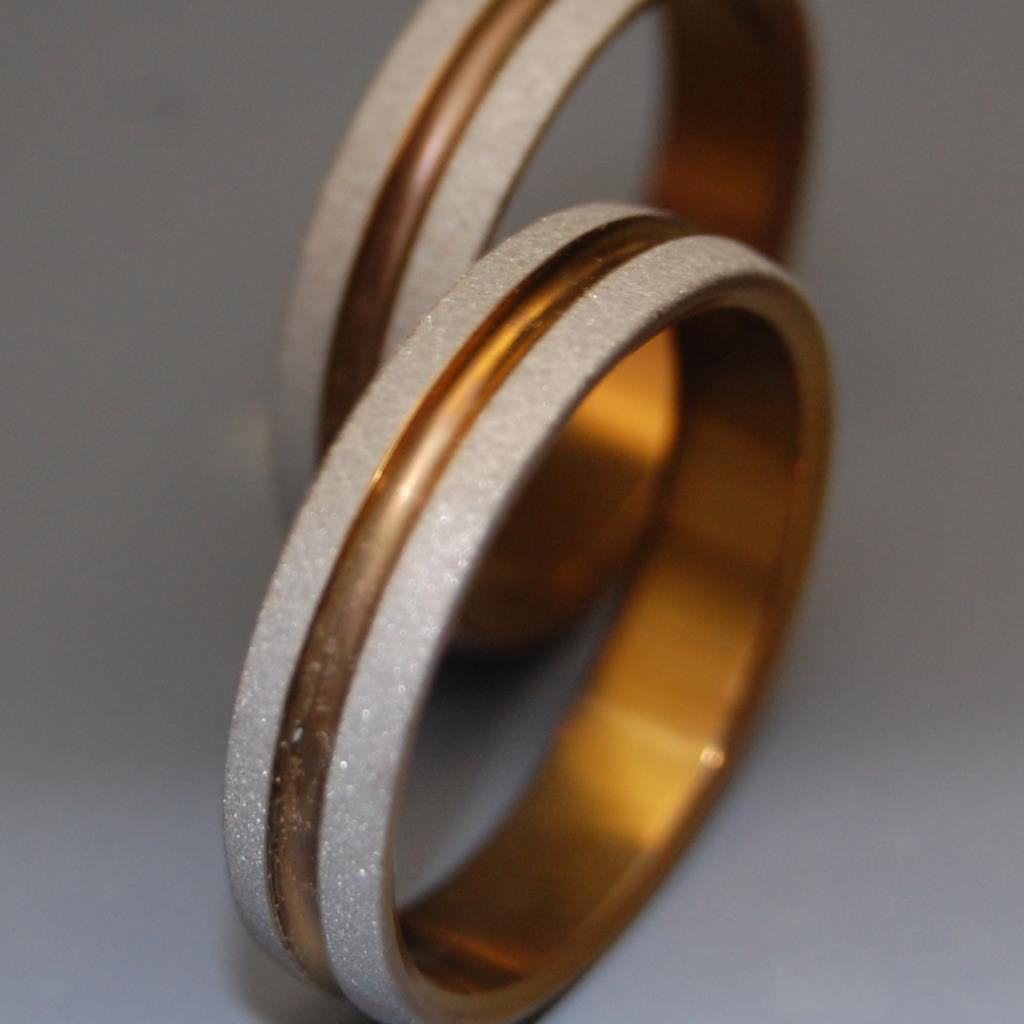 Bold as Love Bronze | Titanium Wedding Rings - Minter and Richter Designs