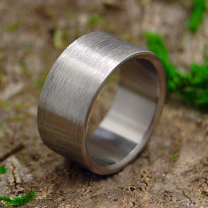 BRUSHED AND NAKED | Pure Titanium Wedding Rings - Minter and Richter Designs
