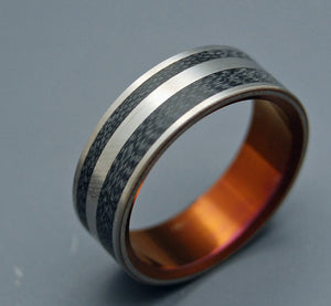 Rosencrantz | Unique Handcrafted Titanium Wedding Ring