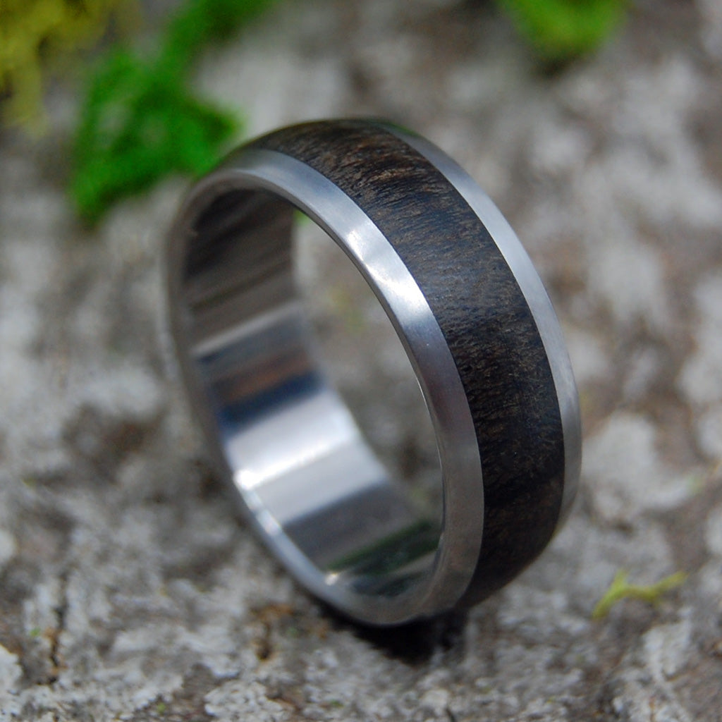 CHOCOLATE EBONY | Ebony Wood Titanium Men's Wedding Rings - Minter and Richter Designs