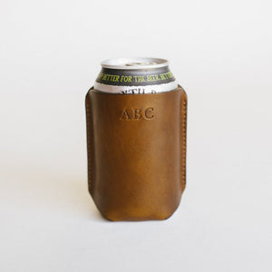 Natural Leather Koozie - Free Engraving!