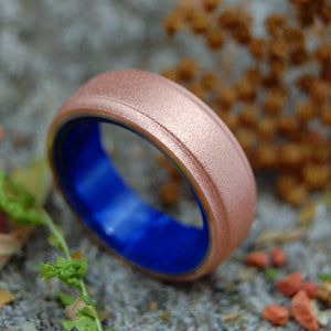 Mens Wedding Rings - Custom Mens Rings - Sodalite and Copper Rings | COPPER ROXIE SODALITE