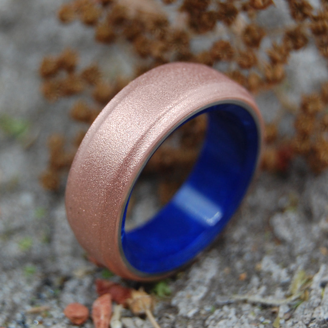 COPPER ROXIE SODALITE |  Stone & Copper Wedding Ring - Minter and Richter Designs