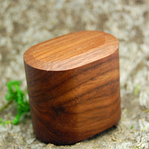 BLACK WALNUT WOOD RING BOX | Wedding Ring Box for One Ring Plus Exterior Sleeve - Vintage Style - Minter and Richter Designs