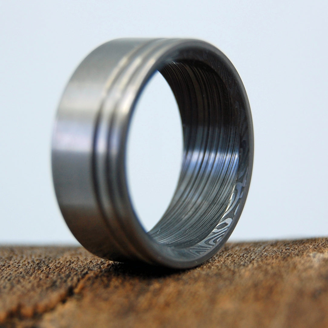 Mens Wedding Rings - Custom Mens Rings - Damascus Steel Rings | DAMASCUS KORE