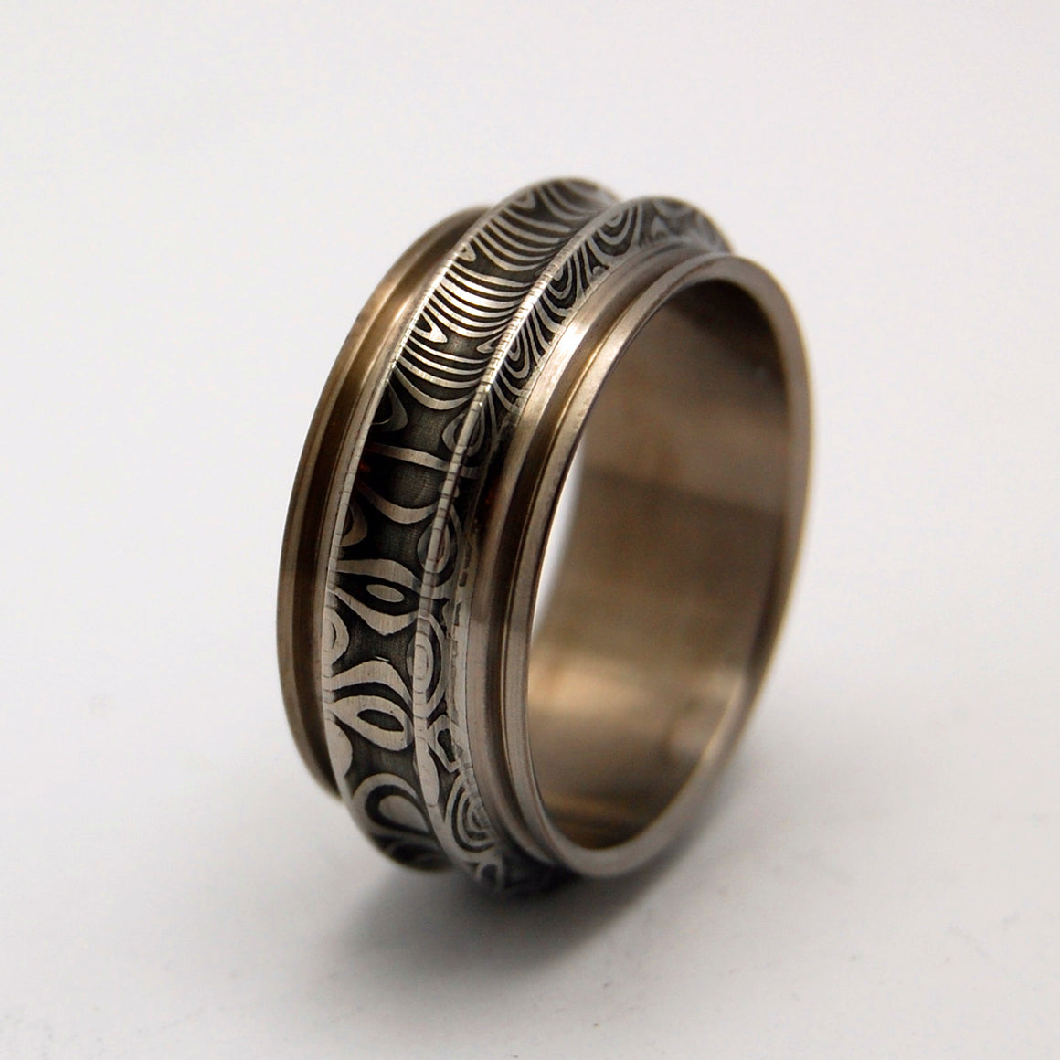 Mens Wedding Rings - Custom Mens Rings - Damasteel Wedding Rings | GROUND CONTROL