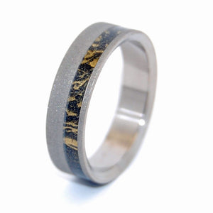 DARK STAR | Black & Bronze M3 Titanium Wedding Ring - Unique Wedding Rings - Minter and Richter Designs
