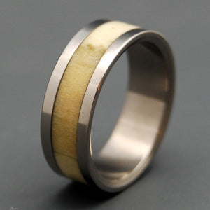 ARTEMIS | Deer Antler & Titanium Wedding Rings - Minter and Richter Designs