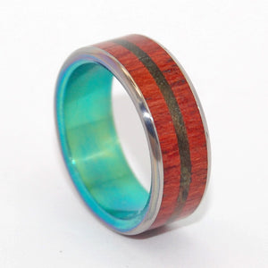 Escape with Me | Wooden Wedding Ring