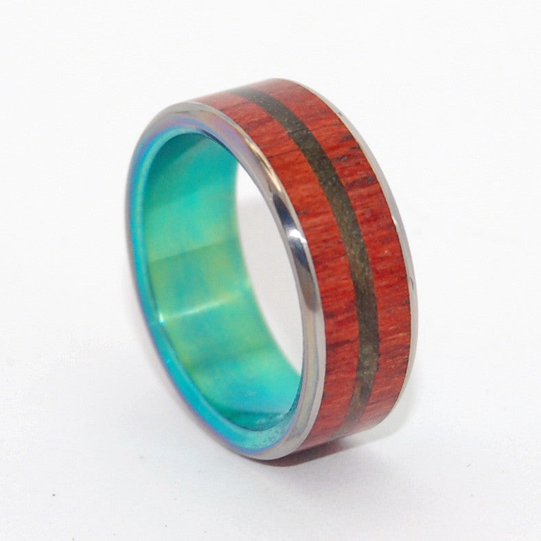 Escape with Me | Wooden Wedding Ring - Minter and Richter Designs