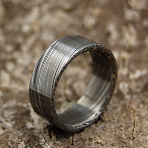 Everest - Damasteel | Unique Men's Black Wedding Rings