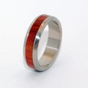 Bloodwood Oath | Wood and Titanium Wedding Ring