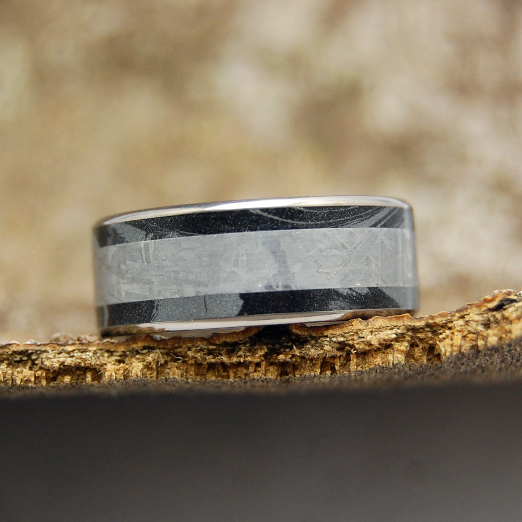 Every Knee Shall Bow | Meteorite Wedding Ring