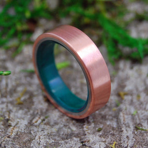 Mens Wedding Rings - Custom Mens Rings - Jade and Copper Rings | FLAT COPPER MOXIE
