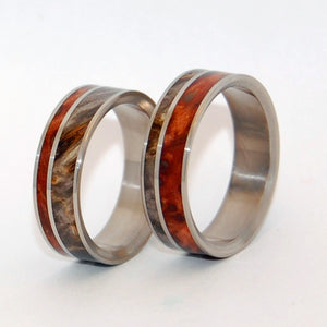 Faith is the Link Between Angels and Man | Handcrafted Wooden Wedding Ring Set