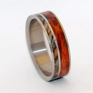 FAITH IS THE LINK  | California Buckeye Wood - Unique Wooden Wedding Rings - Minter and Richter Designs