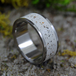 Greek Island | SIZE 7.75 AT 7.9MM | Greek Beach Sand | Titanium Wedding Rings | On Sale - Minter and Richter Designs