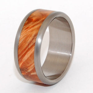 Golden Flame | Wooden Wedding Ring