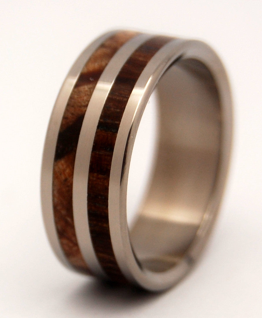Happy Bear | Wood and Titanium Wedding Ring - Minter and Richter Designs