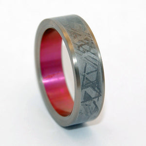 Heavy Hitter | Meteorite and Hand Anodized Titanium Wedding Ring