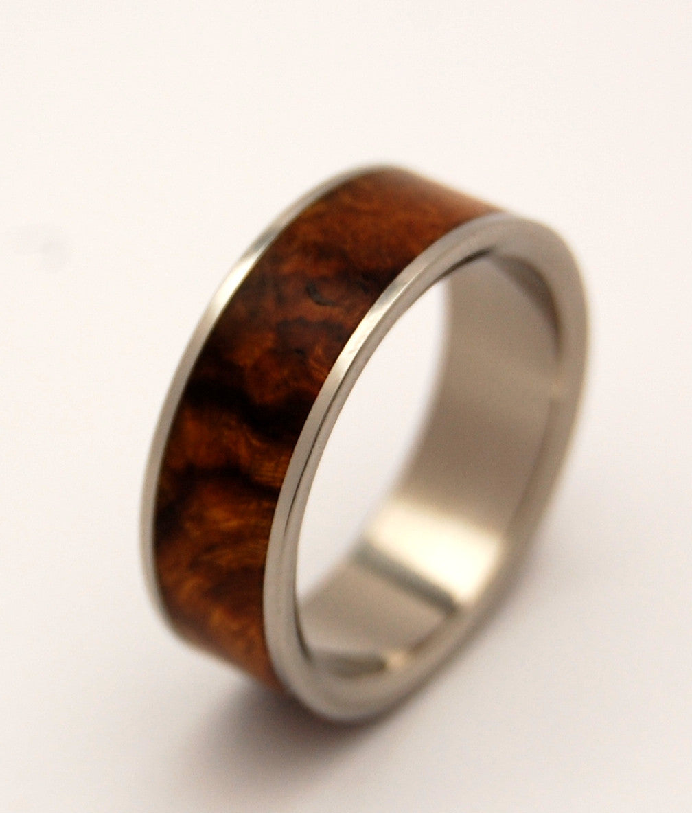 Helios | Wood and Titanium Wedding Ring - Minter and Richter Designs