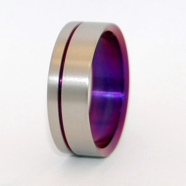 Heliotrope | Hand Anodized Titanium Wedding Band - Minter and Richter Designs