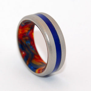 Hot Lava Cool Sea | Handcrafted Titanium Wedding Ring