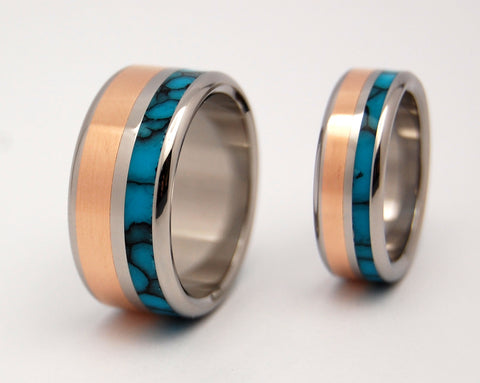 unique wedding rings - Turquoise Wedding Rings
