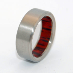 HUMBLE PALM | Red Palm Wood & Titanium - Unique Wedding Rings - Titanium Wedding Rings - Minter and Richter Designs