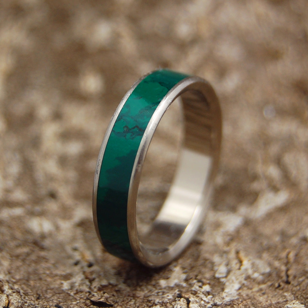 Imperial Rounded Jade Handcrafted Women S Titanium Wedding Rings
