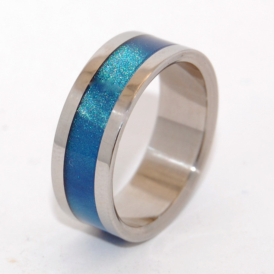 Blue Sparkle INOX | Blue and Steel Wedding Ring