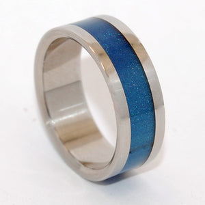 BLUE SPARKLE | Blue Resin & Steel - Blue Wedding Rings - Minter and Richter Designs