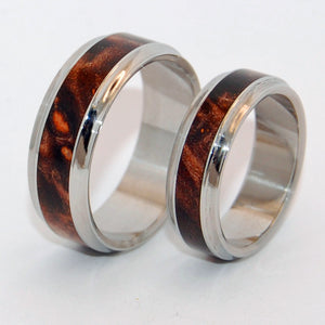 INOX Windham | Wood and Steel Wedding Rings