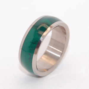 JADE EMPIRE | Jade & Titanium - Unique Wedding Rings - Stone Wedding Rings - Minter and Richter Designs
