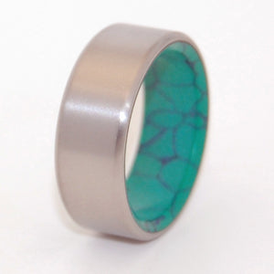 Webbed Malachite Steady Desire | Titanium Wedding Ring - Minter and Richter Designs
