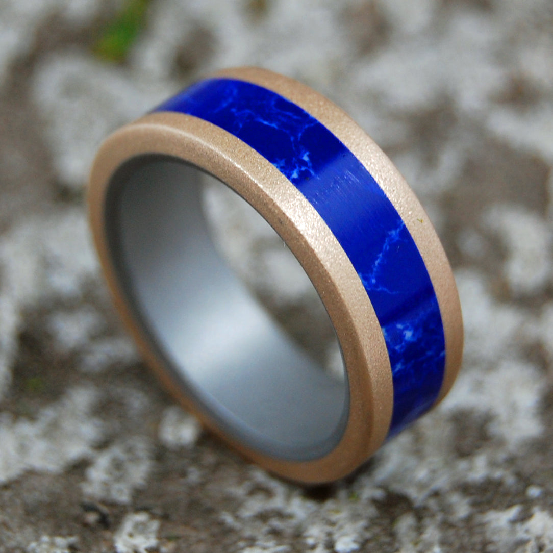 Mens Womens Titanium Wedding Ring | JAHIRA SODALITE BRONZE