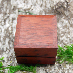 Wedding Ring Box  - Jarrah Wood Classic Box Style - Minter and Richter Designs