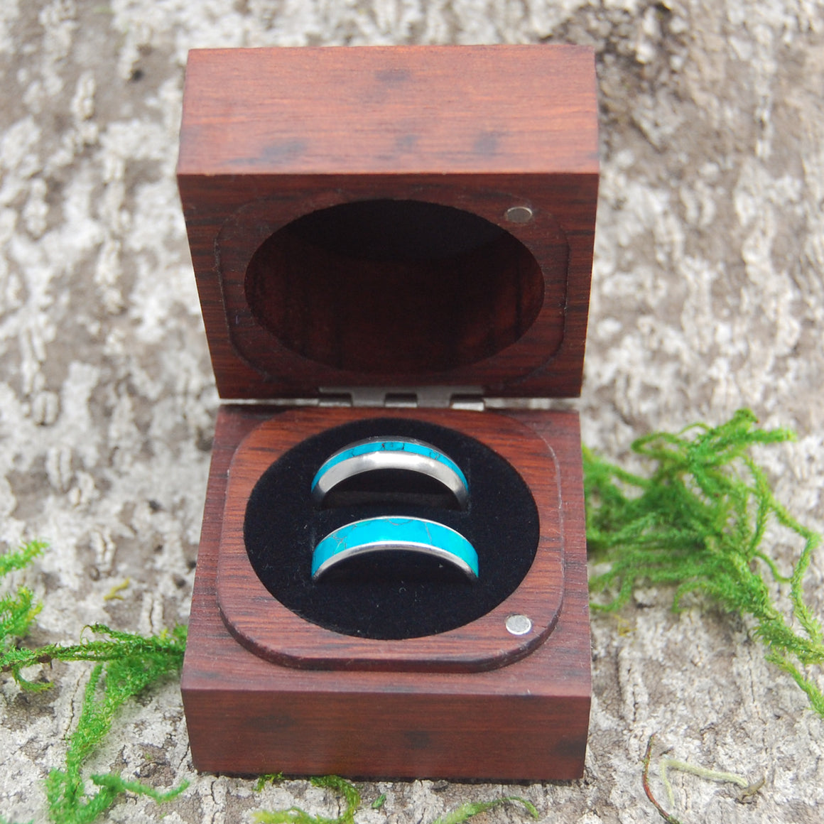 JARRAH WOOD RING BOX | Wedding Ring Box for Two Rings - Minter and Richter Designs