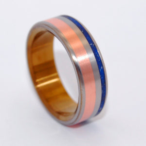 How We Love - Brushed Satin | Copper and Concrete Titanium Wedding Ring - Minter and Richter Designs