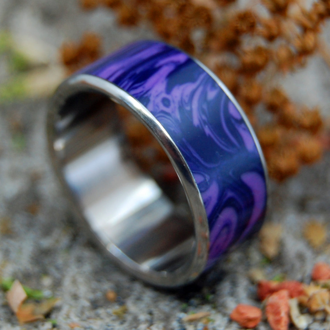 KING CHAROITE | Titanium & Stone Purple Wedding Ring - Minter and Richter Designs