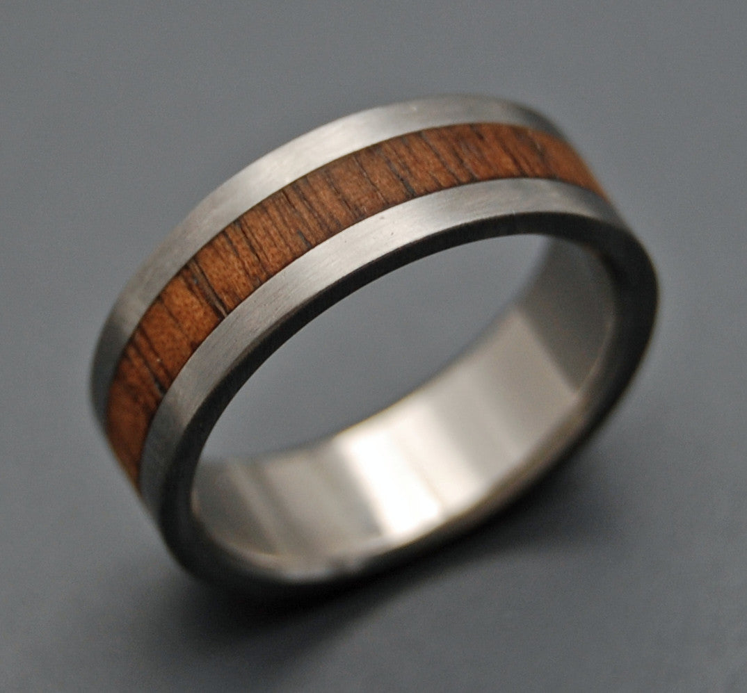 Men's Wedding Rings - Titanium  Koa Wood Wedding Ring | NALU