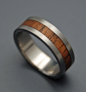 NALU | Hawaiian Koa Wood Titanium Men's Wedding Rings - Minter and Richter Designs