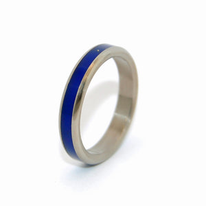 Lapis Love Ring | Handcrafted Women's Titanium Wedding Rings