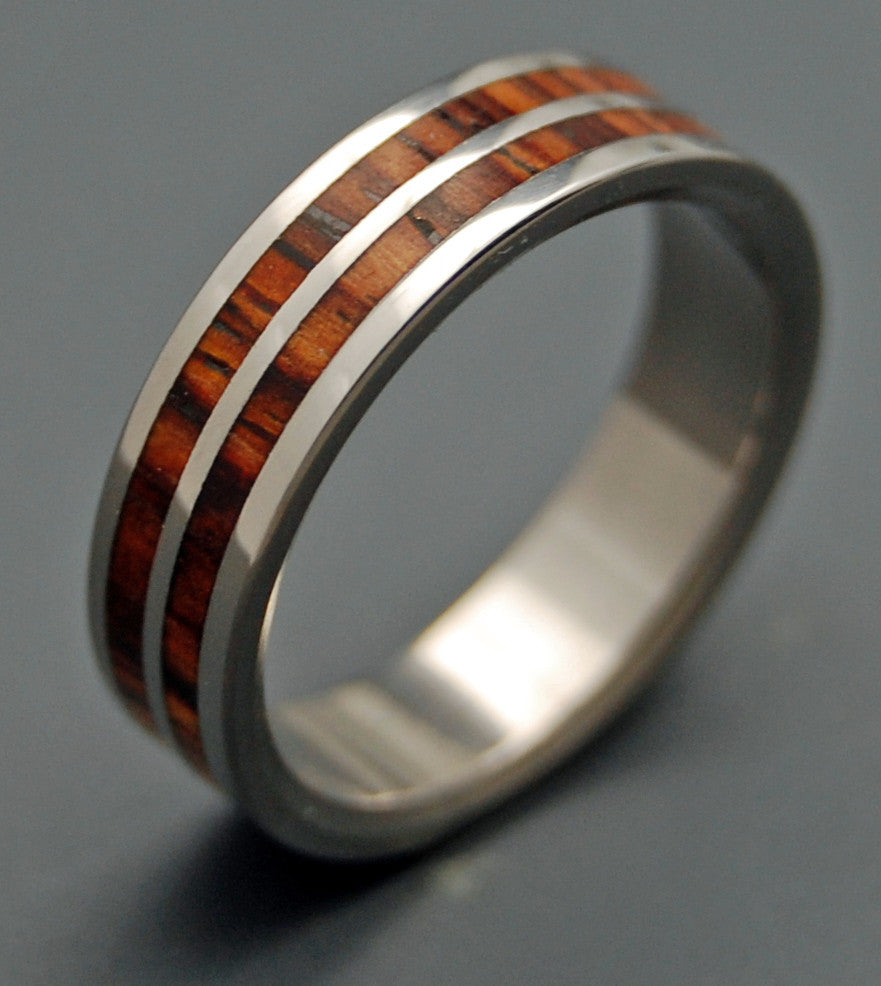 Handcrafted Wooden Wedding Ring - Titanium Ring | BY MY SIDE - Minter and Richter Designs
